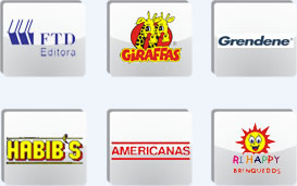 Logotipos de algumas das empresas que utilizam a Curriculum para buscar curr�culos e anunciar vagas.